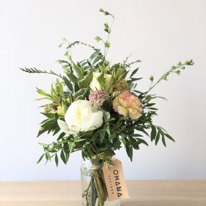 Seasonal Flower Bouquet Small Jar