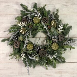 Winter frost wreath